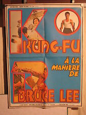 AFFICHE CINEMA  KUNG FU BRUCE LEE
