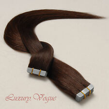 40Pcs Full Head 3M Tape-in Extensions 100% Human Hair Remy #2 (Off Black)