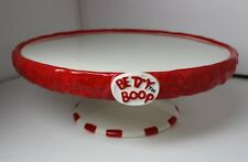 """BETTY BOOP CERAMIC CAKE PLATE STAND for 9"""" ROUND CAKE 2006 HEARST"""
