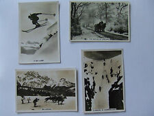 "Senior Service ""Winter Scenes"" B&W large cigarette cards part set (4 of 48) 1937"