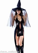 Sexy Gothic Vampire Dark Angel Underworld Spider Bride Halloween Costume 8 - 12