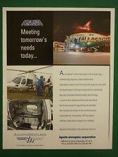 10/2005 PUB AGUSTA WESTLAND HELICOPTER HUBSCHRAUBER MEDEVAC FIRE RESCUE AD