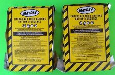 Lot of 2 Mayday-2400 Calorie Survival Emergency Food Bar Car Safety Kits Rescue