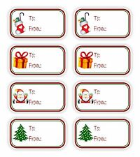 Christmas Present 8x Vinyl Stickers To / From Gifts Tags Mother Holiday Labels