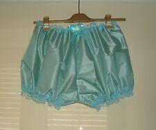 Sissy AB Rustle Waterproof Short Noisy Nylon Bloomers Panties Knickers Aqua