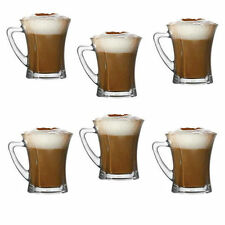 Brand New Set Of 6 Glasses Tea Coffee Cappuccino Glass Cups Hot Drink Mugs Gift