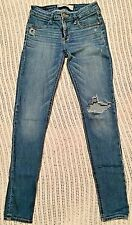 Abercrombie & Fitch Women's Distressed Jeans Size 2R EUC!!