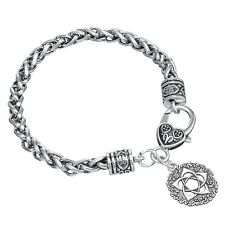 Rose Pentacle of the Goddess Indian Wicca Beauty Joy Charm Life Flower Bracelet