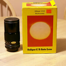 **(NEW in Box)**Soligor 200mm f/3.5 FD Canon Pentax Nikon Olympus Sony Panasonic