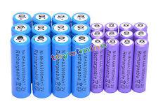 12 AA Azul 3000mAh + 12 AAA 1800mAh NiMH Pur batería recargable RC Reloj MP3