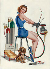 "Vintage Pin Up Fully Equipped Meco Welding11 x 14""  Photo Print"