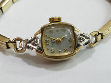 Vintage Bulova Ladies Watch Model 5AD 23j Wristwatch Diamond Case - 3609
