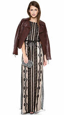 Alice by Temperley Black Botanical Maxi Dress Size 8    *
