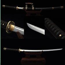 Handmade Folded Steel Blade Tachi Japanese Samurai Sword Full Tang Battle Ready