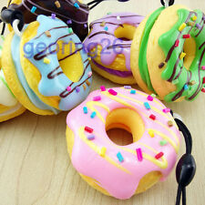 Charming Chocolate Donuts Phone Straps Cream Scented Simulation Food Key Chain