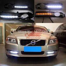 2x LED Daytime Running Light DRL fog lamp w/ Turn Signal For Volvo S80 2009-2013