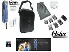 Oster A5 Turbo 2-Speed Clipper KIT #10&40 Blade&7 pc Attachment/Guide Comb Set