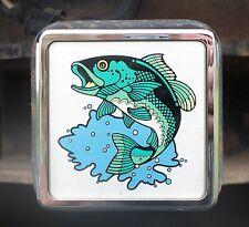 "Fish Hitch Cover Truck Trailer SUV Metal Shaft 2"" Receiver Plug Bass Fishing"