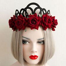 Roses Reine Diadème Couronne Gothique Punk Serre Tête Fleur Mariage