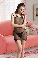 Sexy Lingerie Sleepwear Nightwear Women Underwear Fishnet  Body stocking Dress
