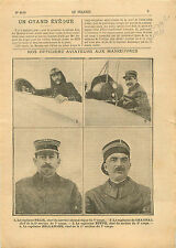 les Officiers Aviateurs Service Aéronautique Capitaine Félix  1911 ILLUSTRATION