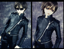 1/3 bjd doll outfit Soom Mega Gem SID size biker jacket & leather pants set