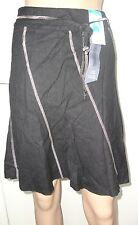 MARKS AND SPENCER, BLACK LINEN SKIRT, SIZE 14, LENGTH 21 INCHES, BNWT, RRP £15