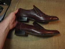 USED BUT VERY GOOD MENS LOAKE SHOES UK 10 SANDOWN RED BROWN LOAFER GOOD DETAIL