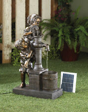 TEAMWORK SOLAR AND ELECTRIC WATER PUMP FOUNTAIN GARDEN YARD DECOR-10016357