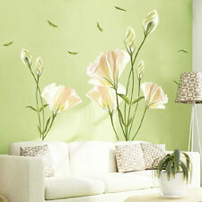 DIY Removable Lily Flower Home Living Room Mural Decor Art Decal Wall Sticker