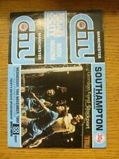 10/11/1982 Manchester City v Southampton [Football League Cup] (Creased, Team Ch