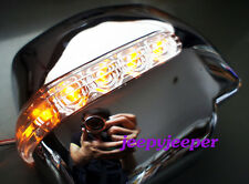 CHROME MANUAL MIRROR COVER LED TOYOTA HIACE COMMUTER 2005 - 2008 R BLUE ORANGE