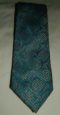 "Vintage 60s Mod Liebert Textured Blue Yellow Black 54"" Neck Tie New MCM Free Shp"