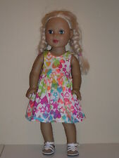 """Hearts & Stars Sundress for 18"""" Doll Clothes American Girl"""