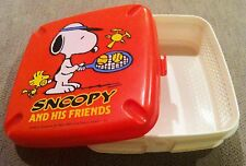 VINTAGE JAPANESE SNOOPY WOODSTOCK BENTO LUNCH BOX CONTAINER
