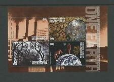2001 MNH Mini Sheet One Earth Effects  No 02633  complete MUH Value Here