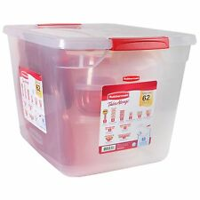 Rubbermaid TakeAlongs Food Storage Set - 62 pc. Dishwasher Microwave Safe NEW