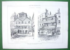 ARCHITECTURE PRINT : England Manchester Timber Houses on Victoria Street