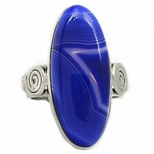 Botswana Agate 925 Sterling Silver Ring Jewelry s.9 SR197513