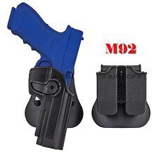 Funda de pistola de mano derecha Doble Bolsa De Revista De Paleta Para Beretta 92 92FS 96