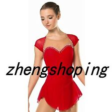 New Girls' Ice Skating Dress Women's Competition Figure Skating Dresses Red