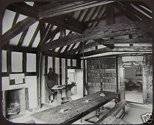 Glass Magic Lantern Slide GUILD CHAMBER STRATFORD ON AVON C1890 PHOTO ENGLAND