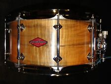 "Craviotto Snare (14"" x 6.5"")  ""Private Reserve""  Curly Flame Maple - Wormholes -"