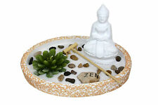 Zen Garden Buddha Rake Rocks Lotus Candle Feng Shui