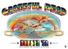 Grateful Dead POSTER Live in Concert Album Promo Ad EUROPE Tour PSYCHEDELIC