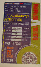 old ticket * World Cup 2002 q * Georgia - Romania in Tbilisi RARE