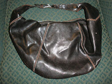 Black Faux Leather Shoulder Hobo/ Pouch Handbag By Fashion Express