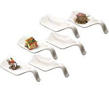 Deagourmet DESIDERIO Porcelain Tasting Spoon / Appetizer Holder 6pc Serving Set