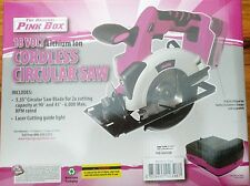 The Original Pink Box Cordless 18-Volt Lithium Ion Circular Saw Pink - (NIB)