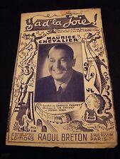 Partition Ya d'la joie Maurice Chevalier Charles Trénet Music Sheet